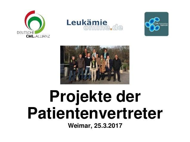 Projekte der Patientenvertreter Weimar, 25.3.2017