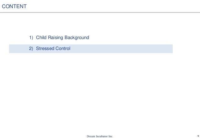 9 1) Child Raising Background 2) Stressed Control CONTENT