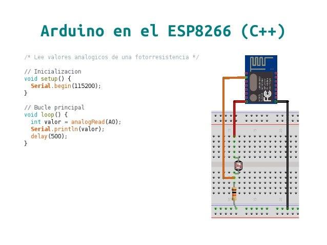 Arduino en el ESP8266 (C++)
