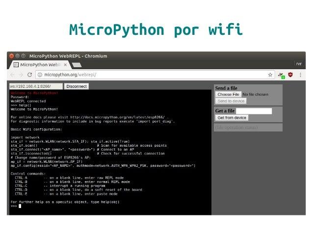 MicroPython por wifi