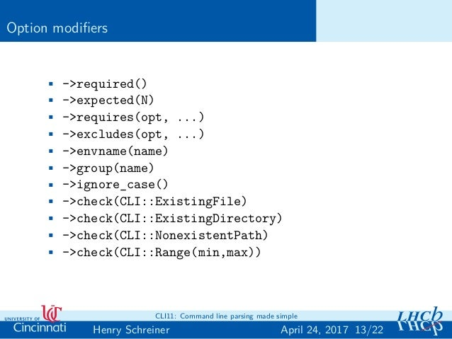 DIANA: CLI11: Command line parsing made simple