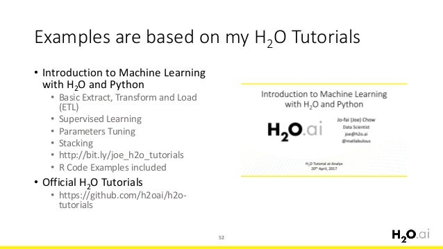 Introduction to H2O and Model Stacking Use Cases