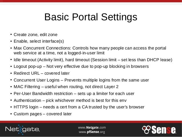 Captive Portal - pfSense Hangout May 2017