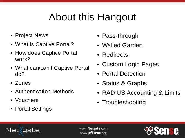 Captive Portal - pfSense Hangout May 2017