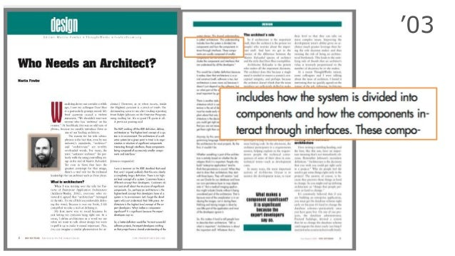 @RuthMalan #SATURN17 Software architecture refers to the high level structures of a software system [..] Each structure co...