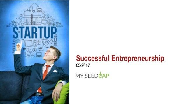 Successful Entrepreneurship 05/2017