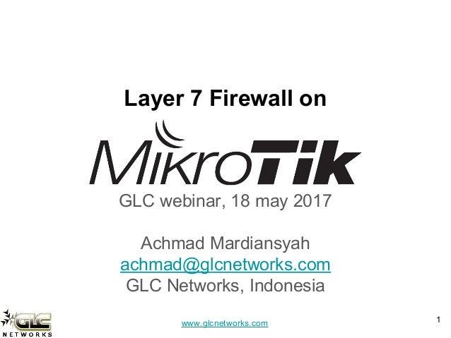 Layer7 firewall on mikrotik