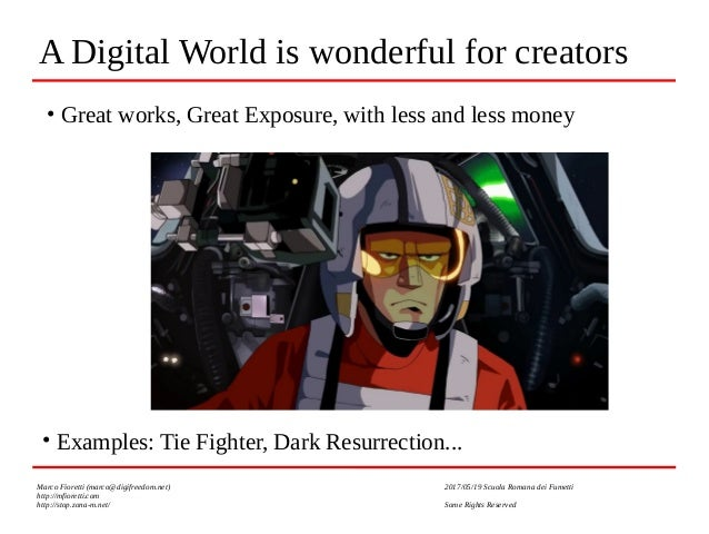 Creativity vs Copyright and the Digital World: who will win? Who SHOULD win? Slide 2