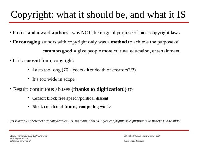 Creativity vs Copyright and the Digital World: who will win? Who SHOULD win? Slide 3