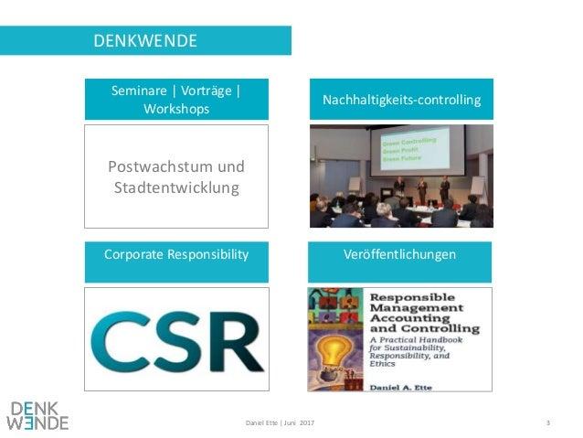 Controlling und Nachhaltigkeit - Zwischen hard facts und heart facts? Slide 3