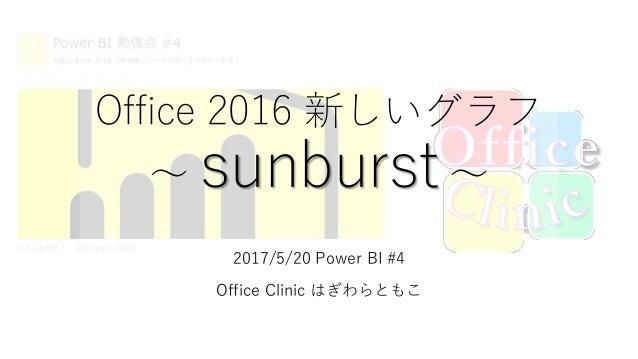 Office 2016 新しいグラフ ~ sunburst ~ 2017/5/20 Power BI #4 Office Clinic はぎわらともこ