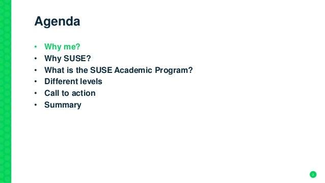 The new SUSE Academic Program explained! Slide 2