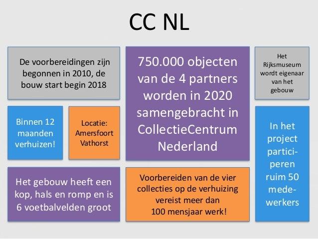 Voorbereiden van de vier collecties op de verhuizing vereist meer dan 100 mensjaar werk! CC NL Binnen 12 maanden verhuizen...
