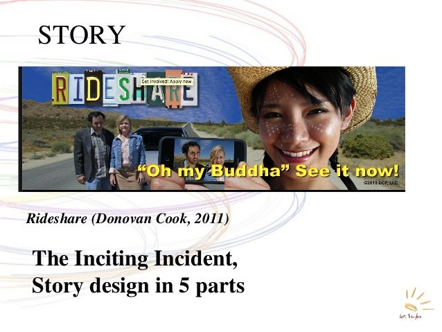 The Inciting Incident, Story design in 5 parts STORY Rideshare (Donovan Cook, 2011)