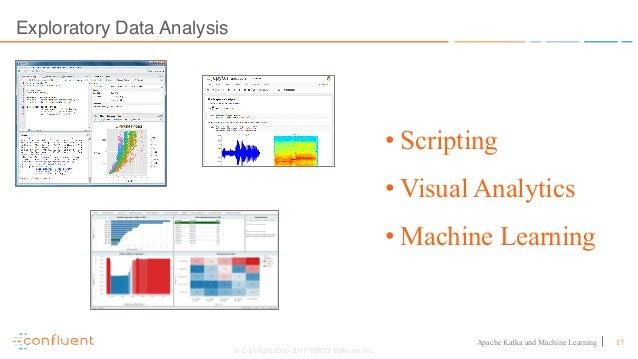 17Apache Kafka and Machine Learning Exploratory Data Analysis © Copyright 2000-2017 TIBCO Software Inc. • Scripting • Visu...
