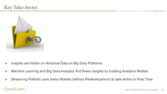 60Apache Kafka and Machine Learning Key Take-Aways Ø Insights are hidden in Historical Data on Big Data Platforms Ø Machin...
