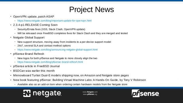 Advanced Captive Portal - pfSense Hangout June 2017 Slide 3