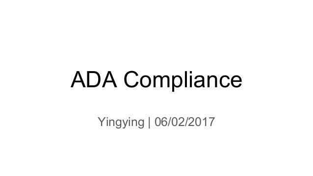 ADA Compliance Yingying | 06/02/2017