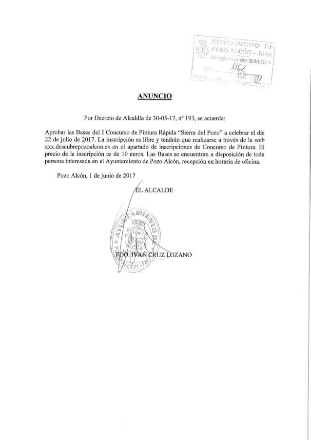 """Bases del I Concurso de Pintura Rápida """"Sierra del Pozo"""""""