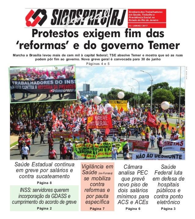 69b53ccdb2171 Jornal Sindsprev - Junho 2017. Sindicato dos Trabalhadores em Saude,  Trabalho e Previdência Social no Estado do Rio de Janeiro ...