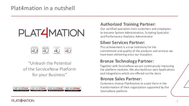 Plat4mation - Your ServiceNow Partner