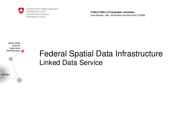 Federal Spatial Data Infrastructure Linked Data Service Federal Office of Topography swisstopo Coordination, Geo- Informat...