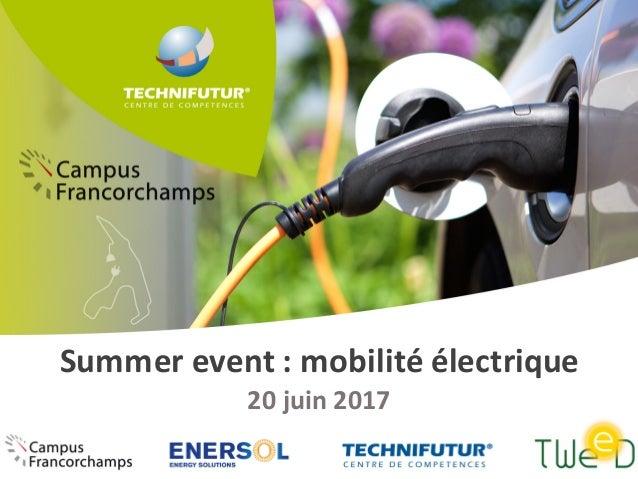 Summer event :mobilitéélectrique 20juin2017