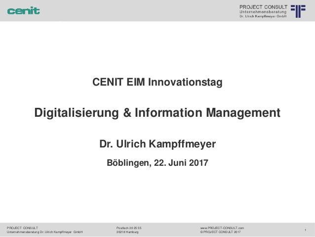 meyer T Unternehmensberatung Dr. Ulrich Kampffmeyer GmbH JECT CONSULT 2017 r ternehmensberatung Dr. Ulrich Kampffmeyer Gmb...
