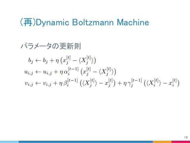 (再)Dynamic Boltzmann Machine パラメータの更新則 16