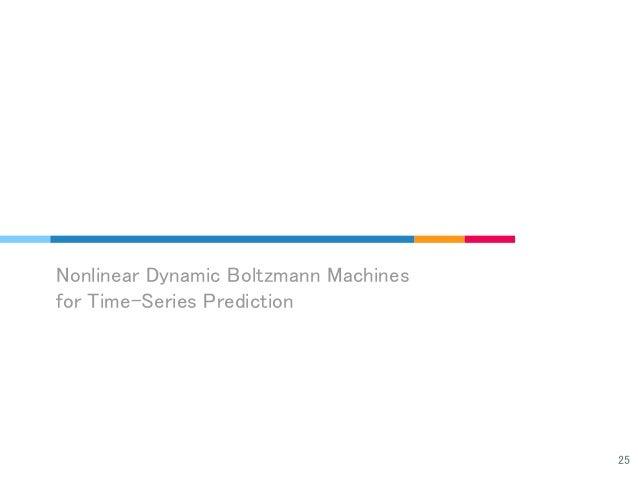Nonlinear Dynamic Boltzmann Machines for Time-Series Prediction 25