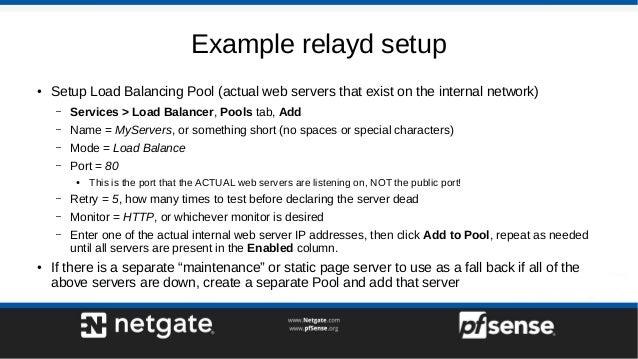 Server Load Balancing on pfSense 2 4 - pfSense Hangout July 2017