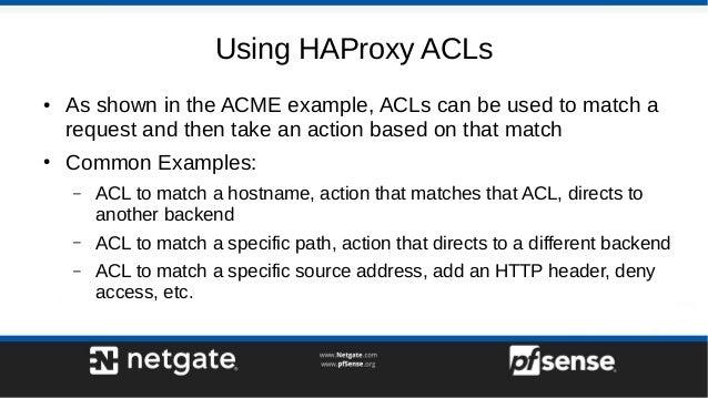Haproxy Firewall Rules