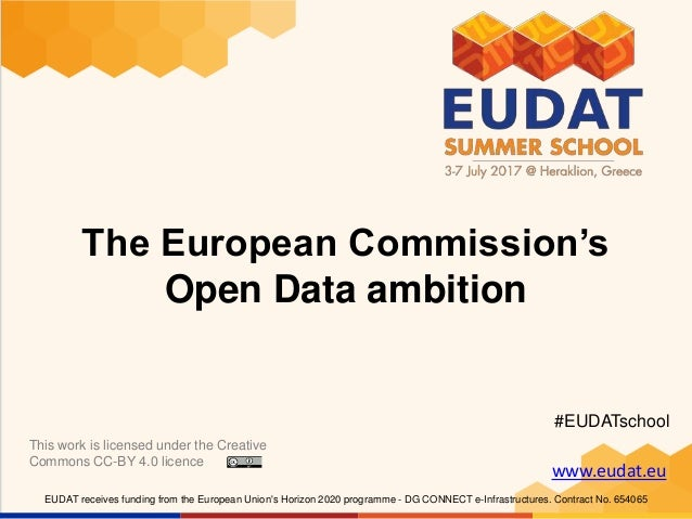 www.eudat.eu EUDAT receives funding from the European Union's Horizon 2020 programme - DG CONNECT e-Infrastructures. Contr...