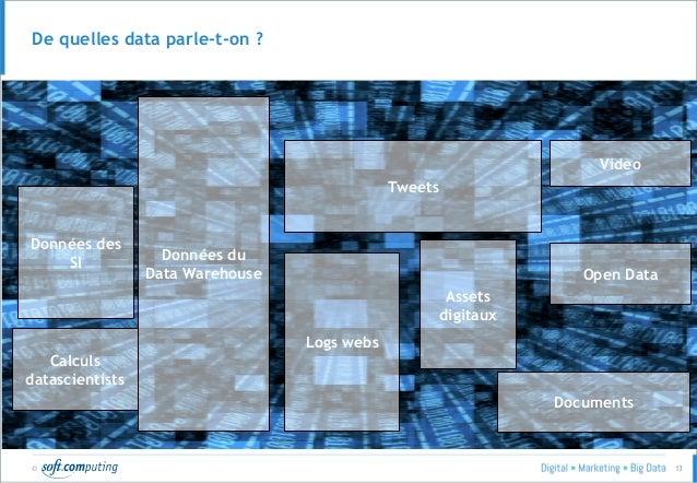 © 13 Données des SI Données du Data Warehouse Tweets Assets digitaux Logs webs Open Data Documents Video Calculs datascien...