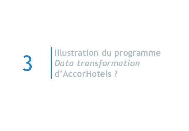 Illustration du programme Data transformation d'AccorHotels ? 3