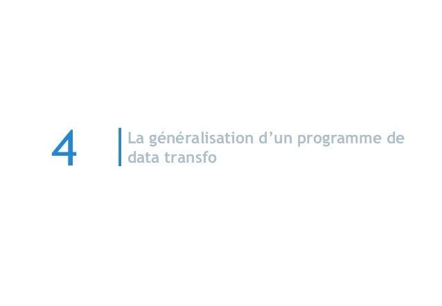 La généralisation d'un programme de data transfo4