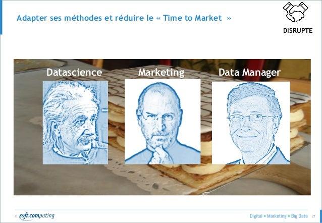 © 27 Adapter ses méthodes et réduire le « Time to Market » MarketingDatascience Data Manager DISRUPTE