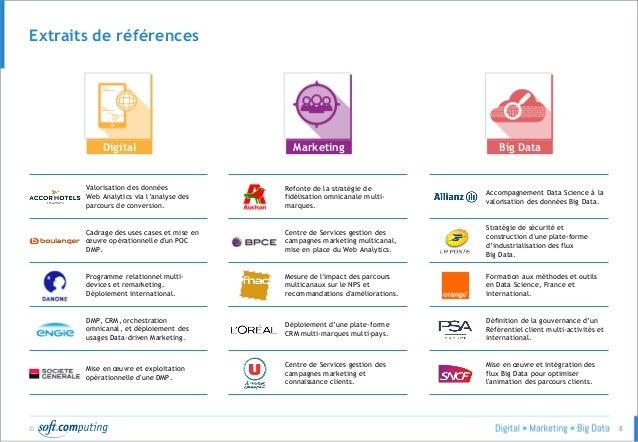 © 8 Extraits de références Digital Marketing Big Data Valorisation des données Web Analytics via l'analyse des parcours de...