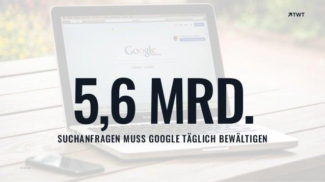 © twt.de 5,6 MRD.SUCHANFRAGEN MUSS GOOGLE TÄGLICH BEWÄLTIGEN