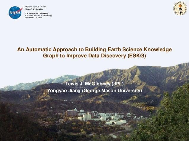 National Aeronautics and Space Administration Jet Propulsion Laboratory California Institute of Technology Pasadena, Calif...