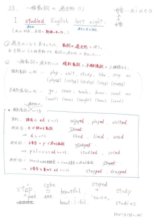 英語 中 一