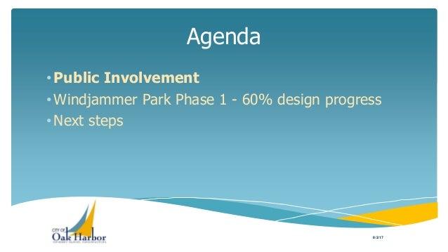 Presentation of Windjammer Park 60% Design to City Council Slide 3