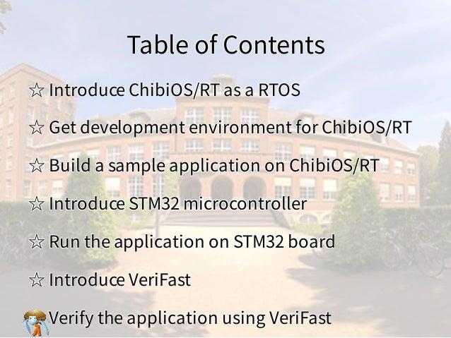 Table of ContentsTable of ContentsTable of ContentsTable of ContentsTable of Contents ☆ Introduce ChibiOS/RT as a RTOS☆ In...