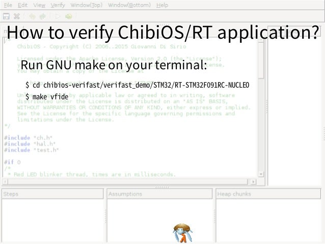 How to verify ChibiOS/RT application?How to verify ChibiOS/RT application?How to verify ChibiOS/RT application?How to veri...