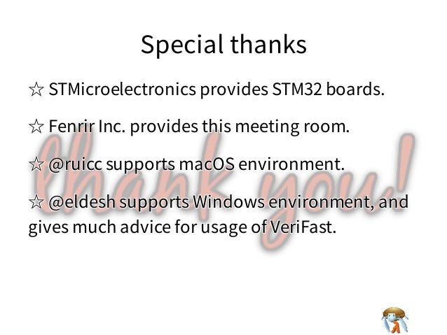Special thanksSpecial thanksSpecial thanksSpecial thanksSpecial thanks ☆ STMicroelectronics provides STM32 boards.☆ STMicr...