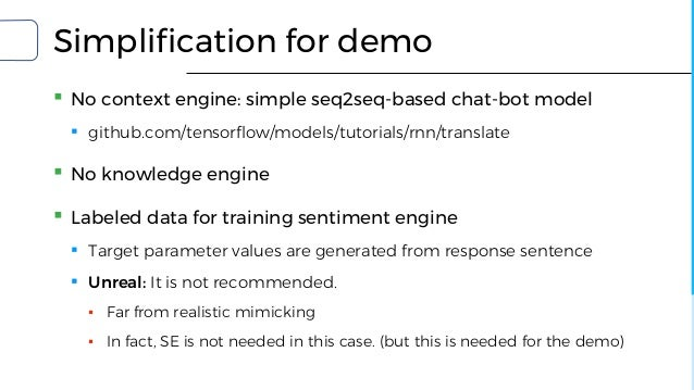 Let Android dream electric sheep: Making emotion model for chat-bot w…