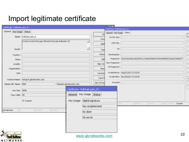 SSL certificate with mikrotik