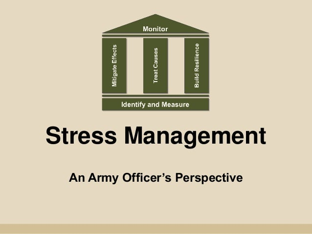 Stress Management An Army Officer's Perspective