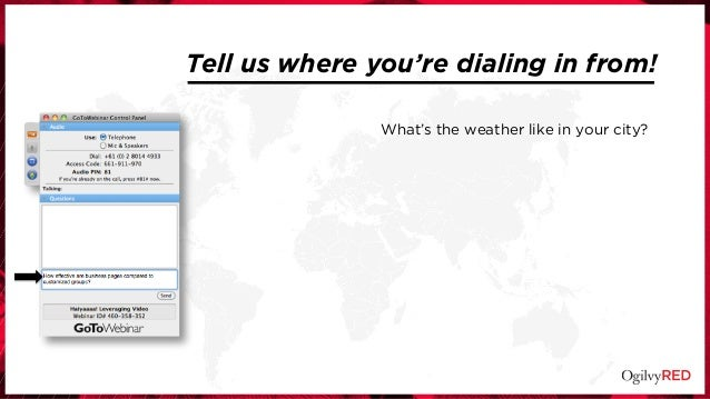 What's the weather like in your city? Tell us where you're dialing in from!