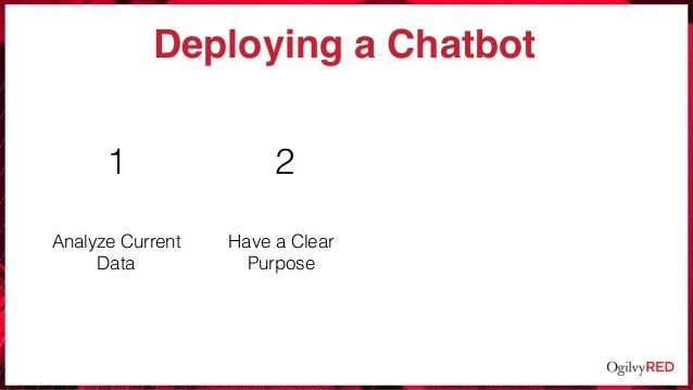 2 Deploying a Chatbot Analyze Current Data Have a Clear Purpose 1